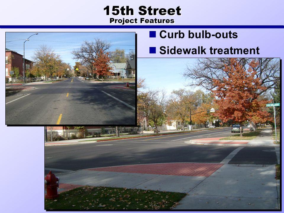 Curb bulb-outs Sidewalk treatment