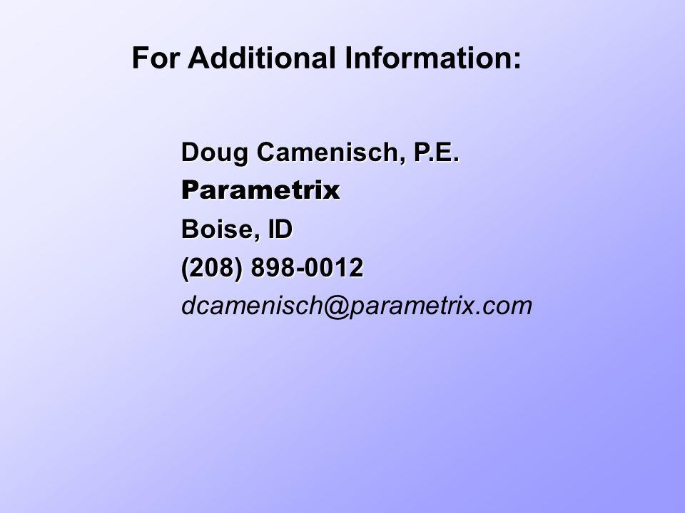 Doug Camenisch, P.E.