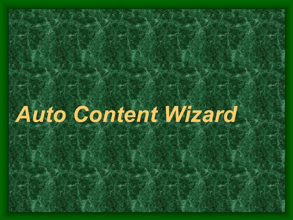 Auto Content Wizard