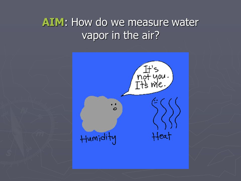 AIM: How do we measure water vapor in the air?