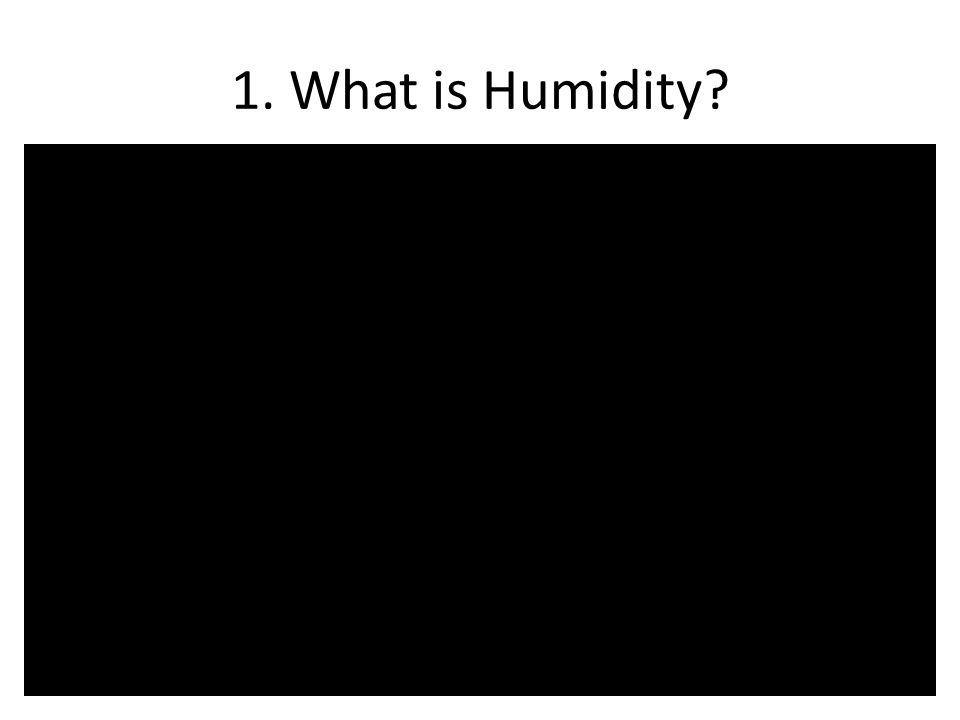 1. What is Humidity?