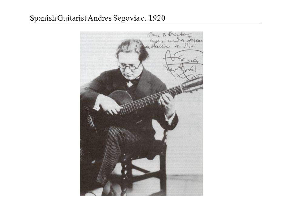 Spanish Guitarist Andres Segovia c. 1920
