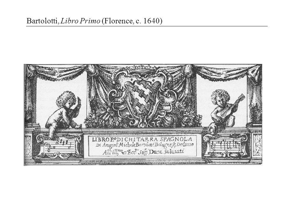 Bartolotti, Libro Primo (Florence, c. 1640)