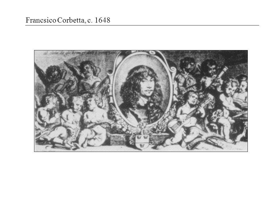 Francsico Corbetta, c. 1648