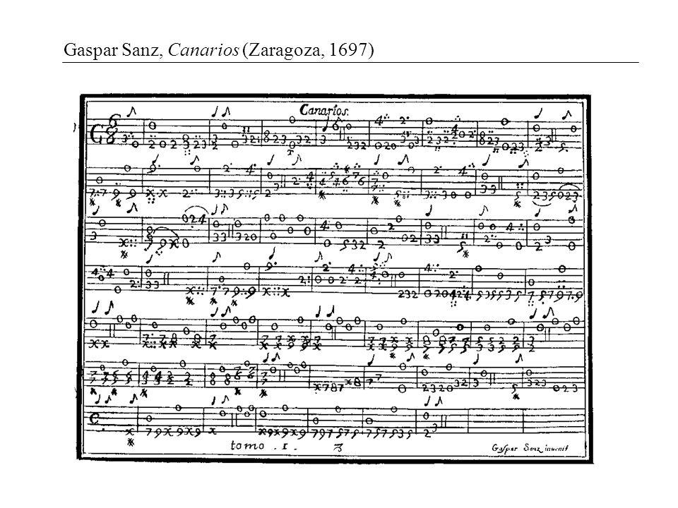 Gaspar Sanz, Canarios (Zaragoza, 1697)