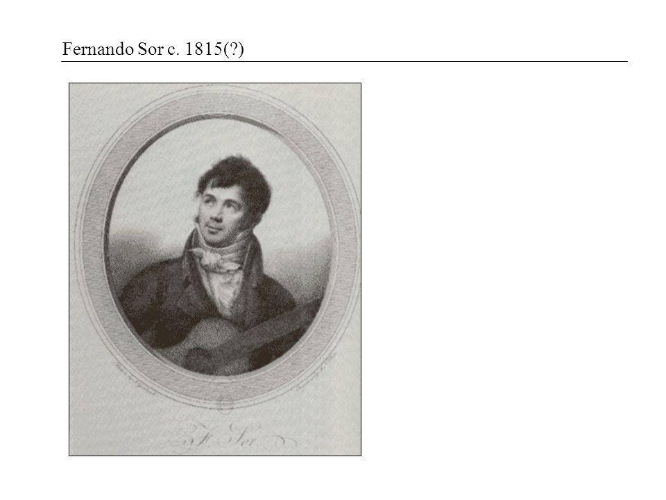 Fernando Sor c. 1815(?)