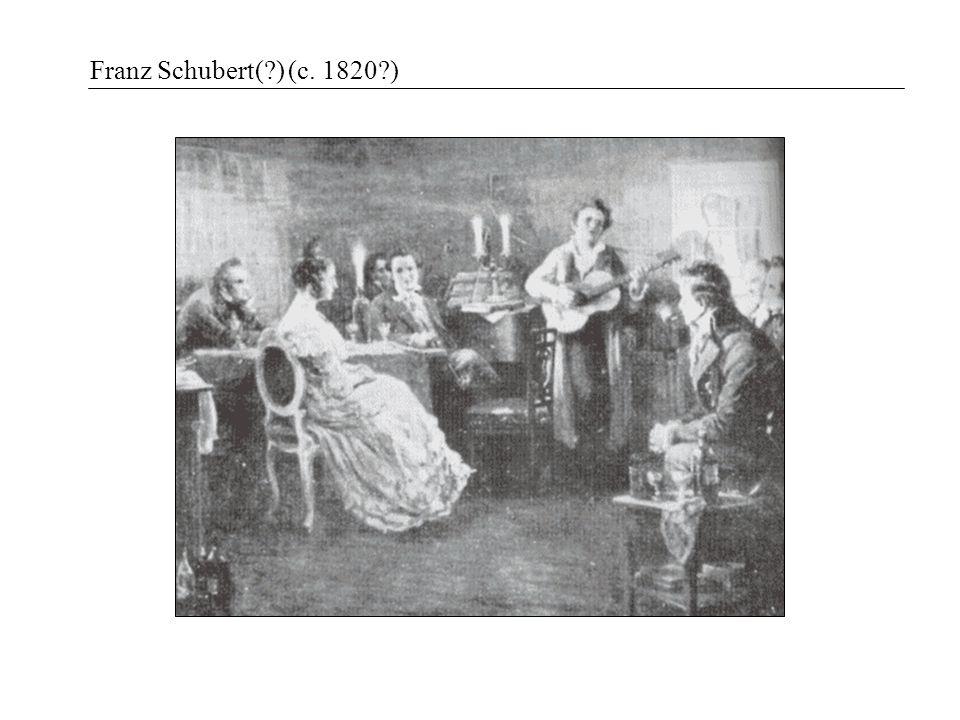 Franz Schubert(?) (c. 1820?)
