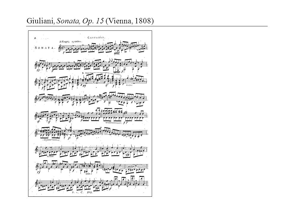 Giuliani, Sonata, Op. 15 (Vienna, 1808)