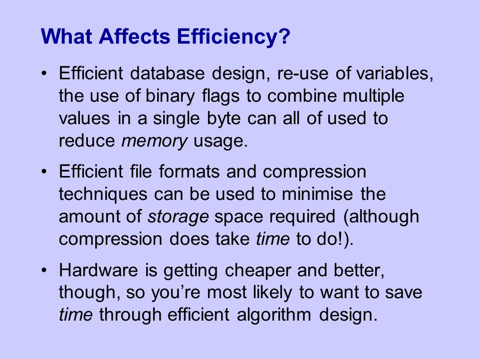 What Affects Efficiency.