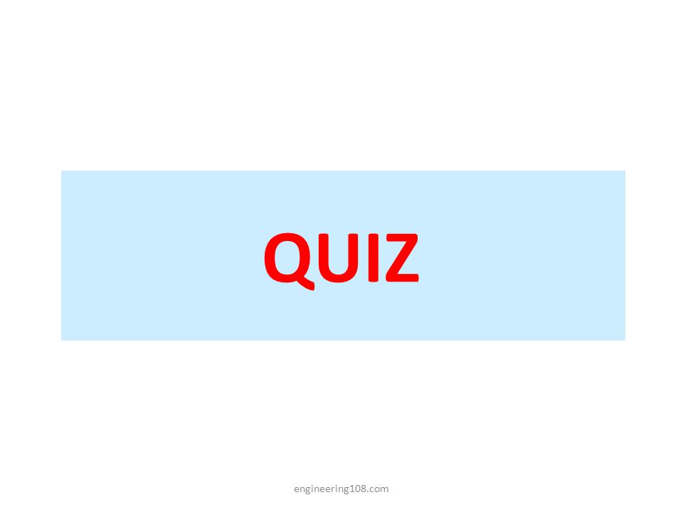 QUIZ engineering108.com