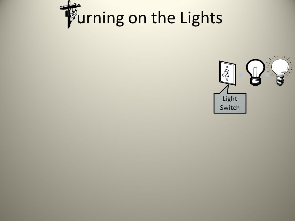 urning on the Lights Not taken into consideration are the physical and mental abilities to turn them on, as well as the motive to do so.