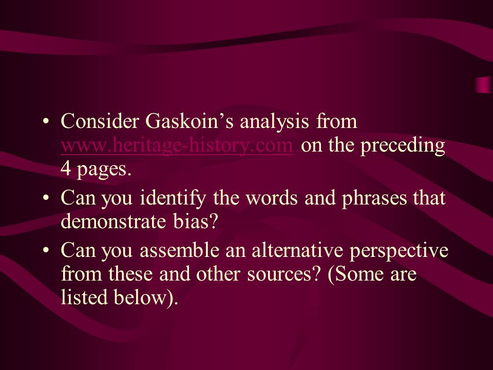 Consider Gaskoin's analysis from www.heritage-history.com on the preceding 4 pages.