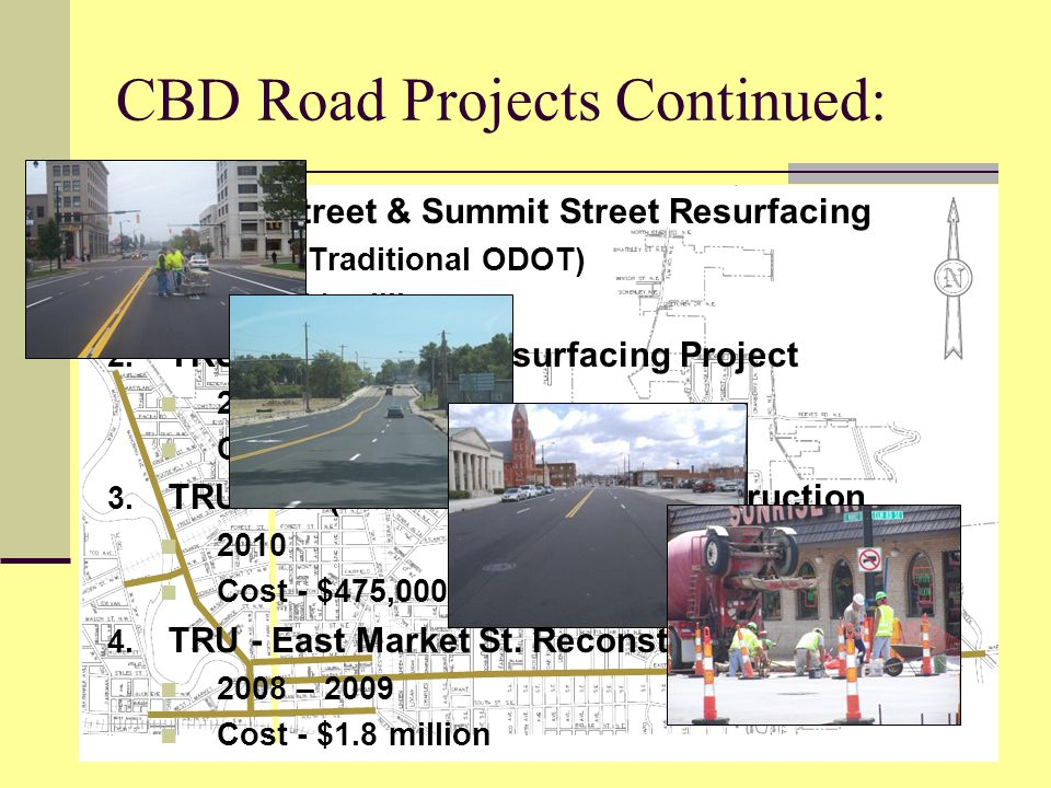 CBD Road Projects Continued: 1.