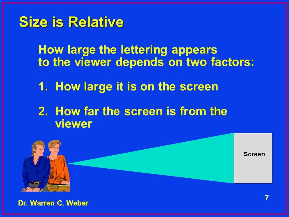 18 Is a Detailed Blueprint Necessary? Dr. Warren C. Weber