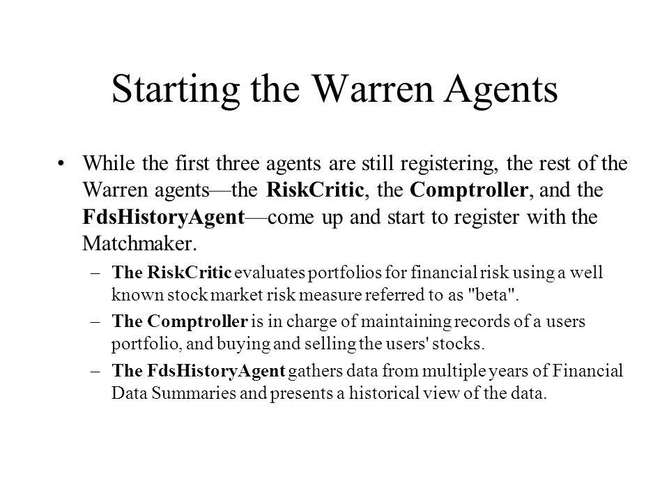 Starting the Warren Agents