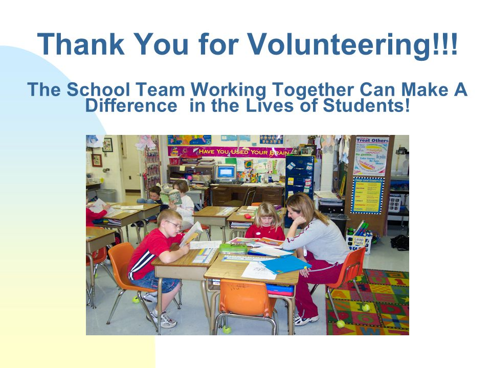Thank You for Volunteering!!.