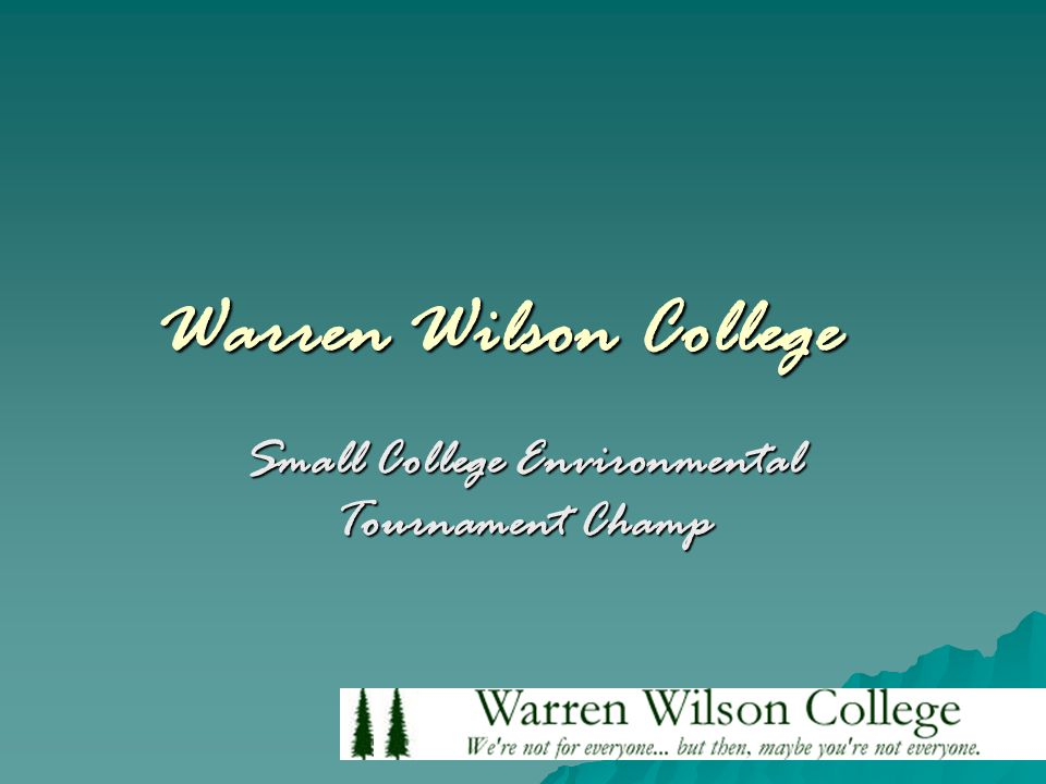 Warren Wilson College Small College Environmental Tournament Champ