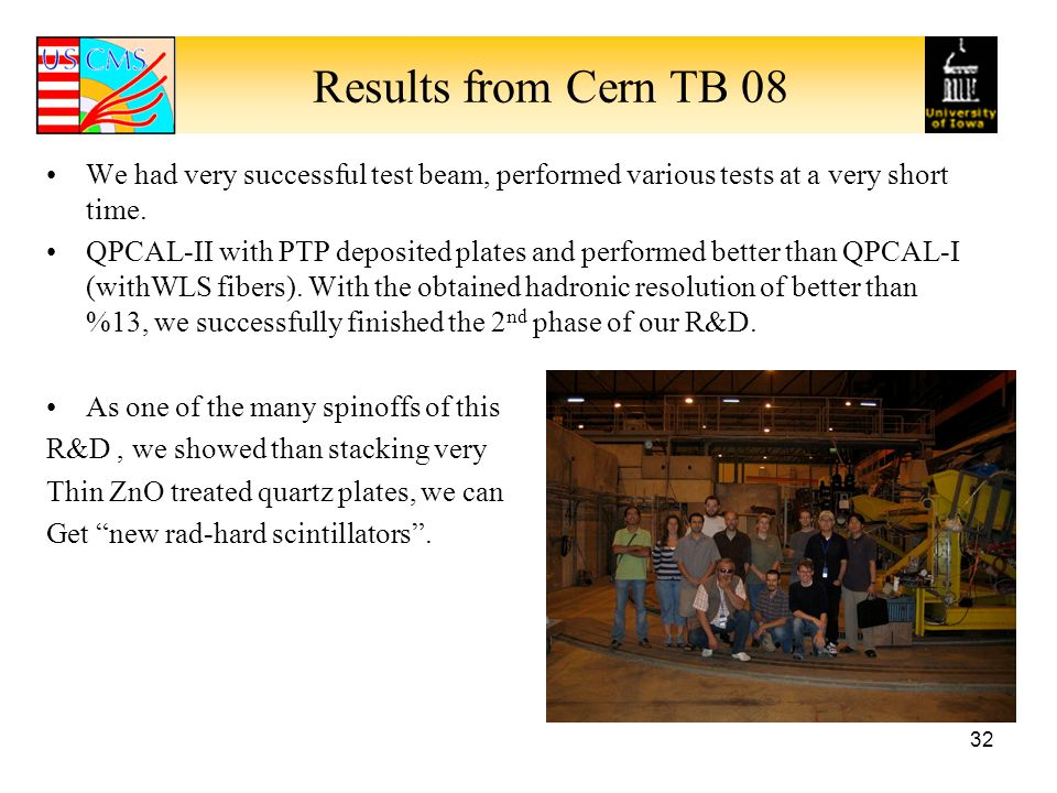 Results from Cern TB 08 We had very successful test beam, performed various tests at a very short time.