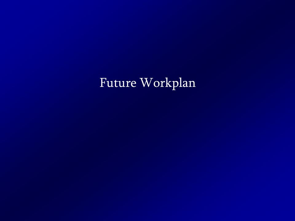 Future Workplan