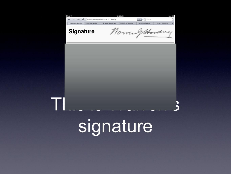 This is Warren's signature