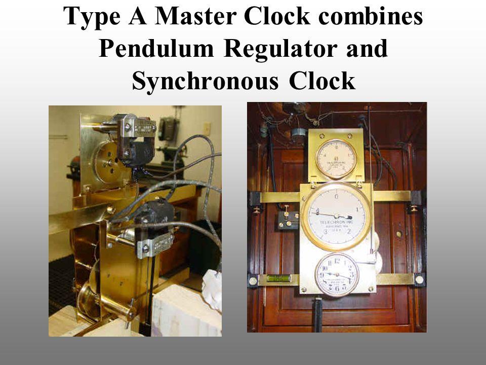 Type A Master Clock combines Pendulum Regulator and Synchronous Clock