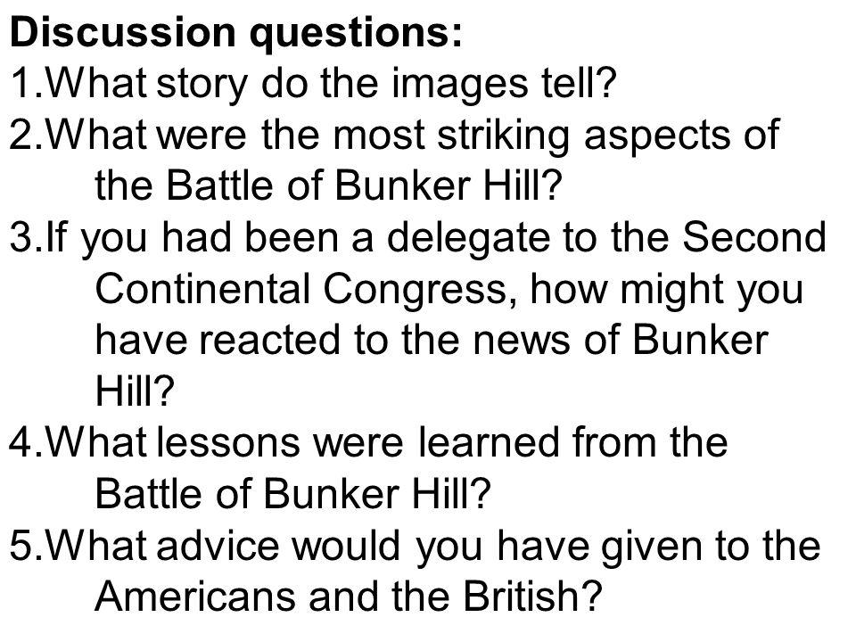 The Battle of Bunker Hill, 1775