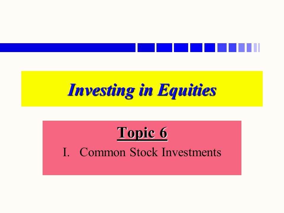 A.Basic Characteristics n n 1. Equity Capital n n 2.