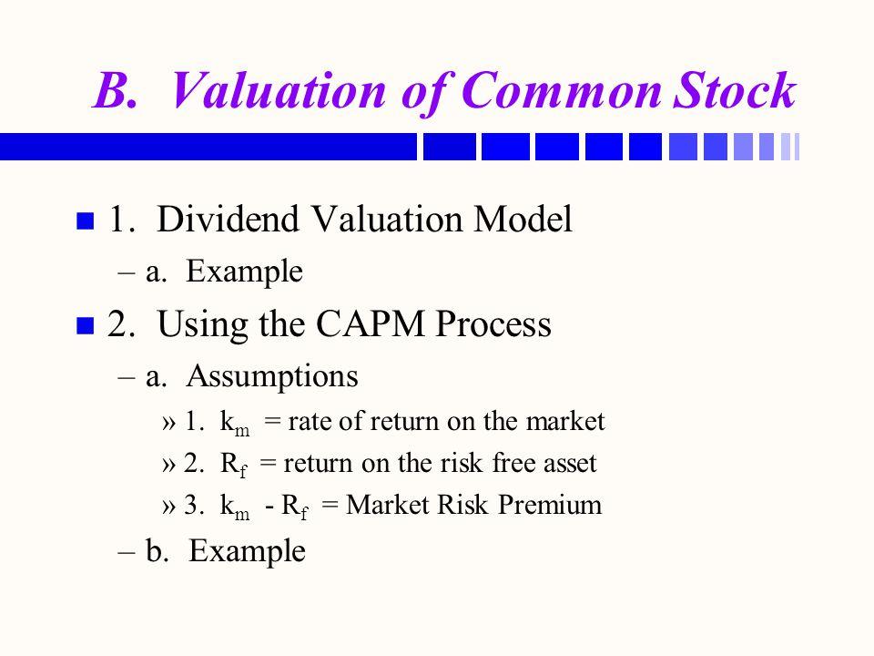 C.Other Common Stock Values n n 1. Par Value n n 2.
