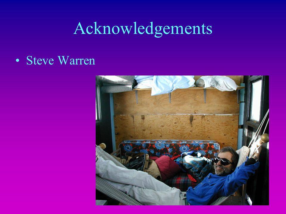 Acknowledgements Steve Warren