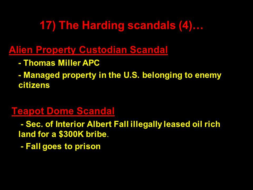 Alien Property Custodian Scandal - Thomas Miller APC - Managed property in the U.S.