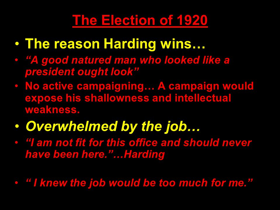 Political Overview of the 1920s The Executive Branch is dominated by 3 Republicans… * ______________ Republicans control Congress during the 1920s