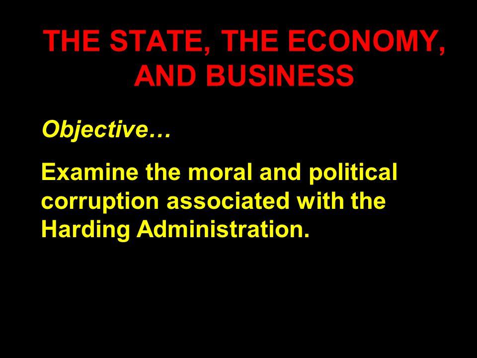 Warren G.Harding Personal Conduct A gambler… A hypocrite...