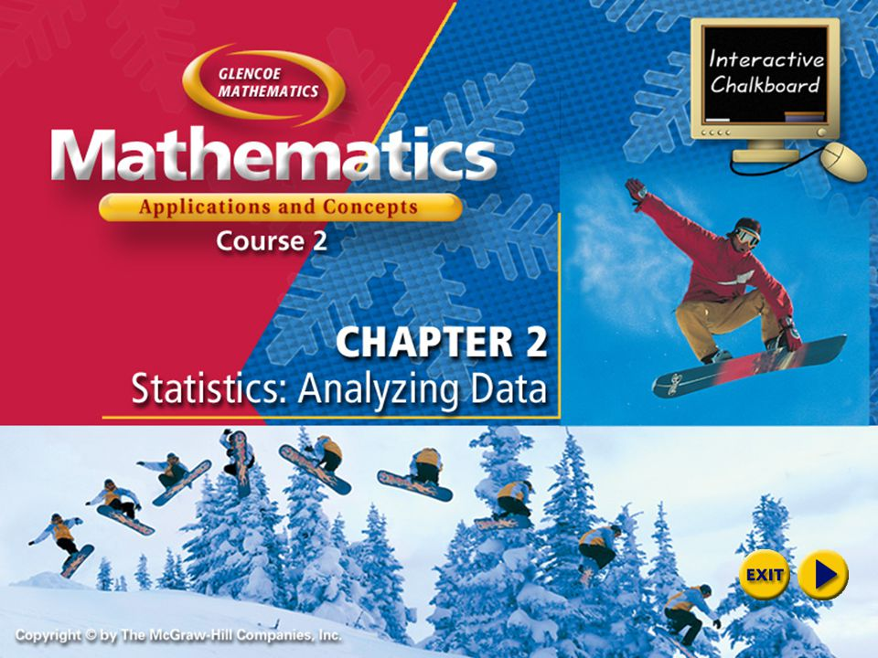 Welcome to Interactive Chalkboard Mathematics: Application and Concepts, Course 2 Interactive Chalkboard Copyright © by The McGraw-Hill Companies, Inc