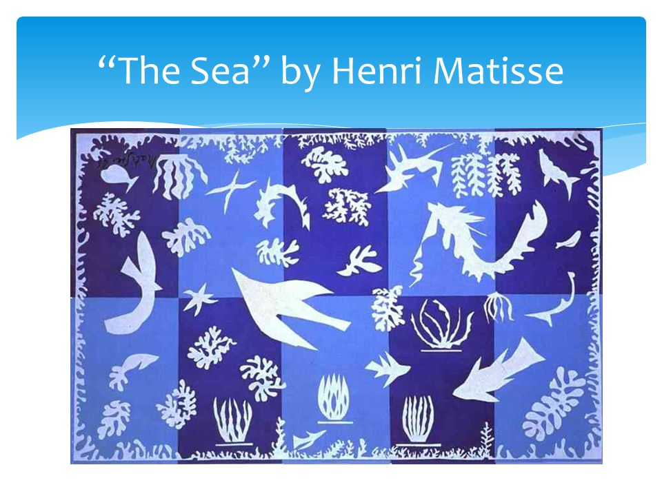 The Sea by Henri Matisse