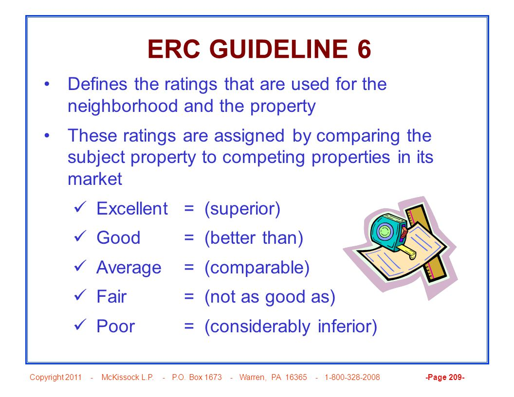 Copyright 2011 - McKissock L.P. - P.O. Box 1673 - Warren, PA 16365 - 1-800-328-2008 -Page 209- ERC GUIDELINE 6 Defines the ratings that are used for t