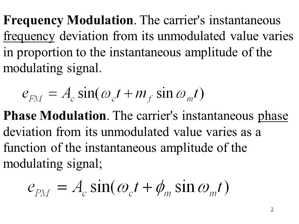 2 Frequency Modulation.