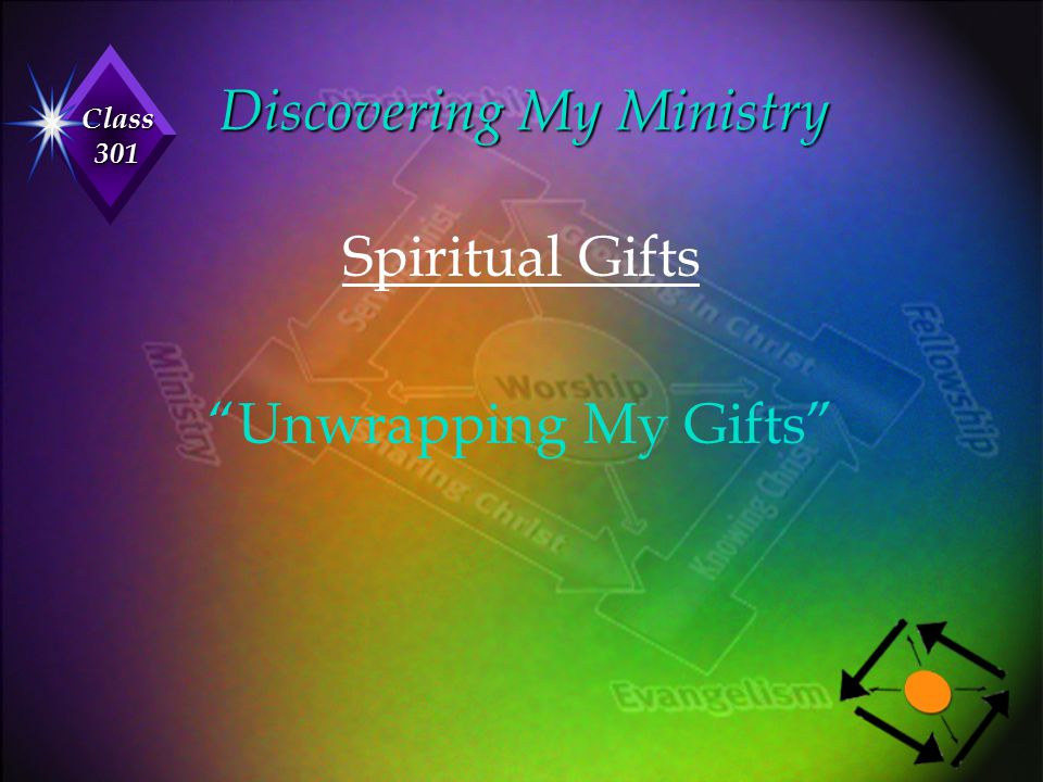 """Class 301 Discovering My Ministry Spiritual Gifts """"Unwrapping My Gifts"""""""