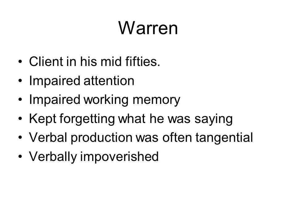 Warren Client in his mid fifties.