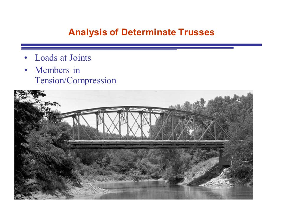 Analysis of Determinate Trusses Loads at Joints Members in Tension/Compression