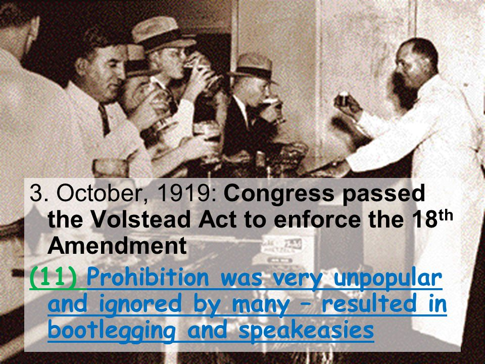 PROHIBITION The Nobel Experiment  One example of the clash between city & farm was the passage of the 18 th Amendment in 1920  This Amendment launched the era known as Prohibition  The new law made it illegal to make, sell or transport liquor Prohibition lasted from 1920 to 1933 when it was repealed by the 21 st Amendment