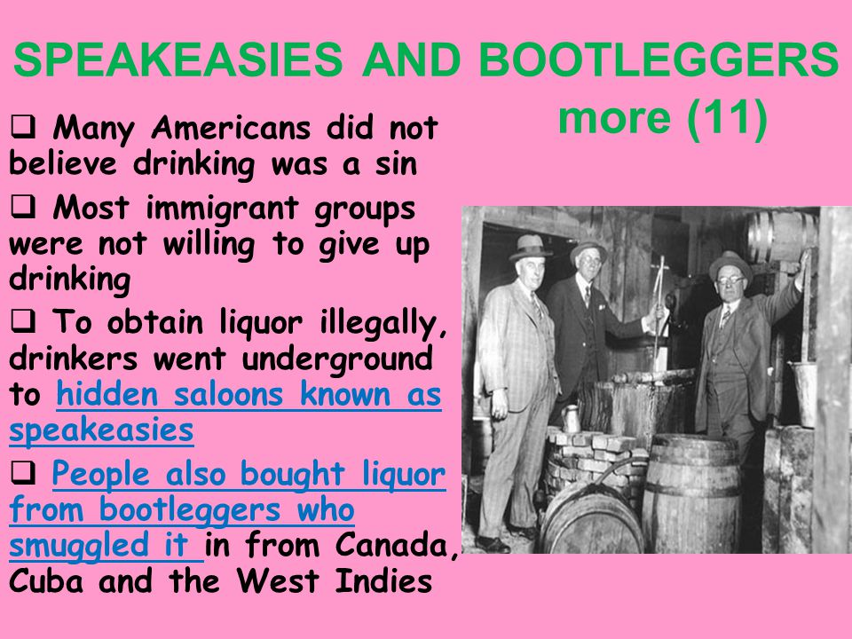 5. Criminal gangs controlled liquor sales 6. Al Capone controlled Chicago's underworld – St.