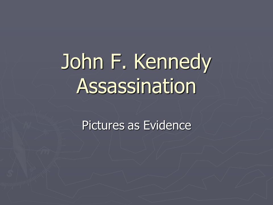 John F. Kennedy Assassination Pictures as Evidence