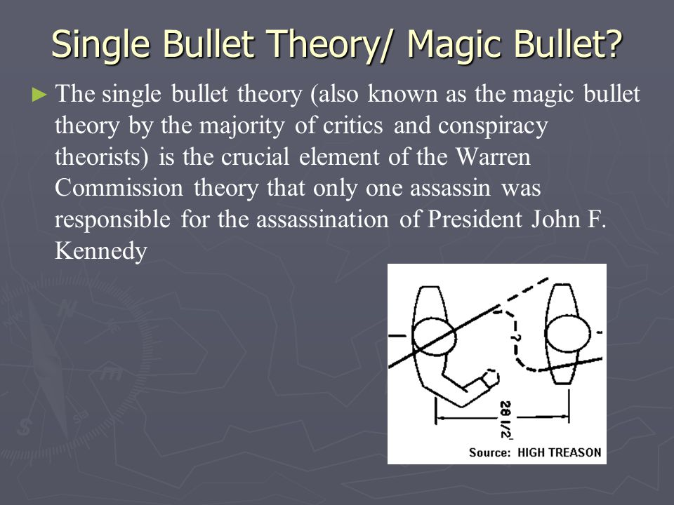 Single Bullet Theory/ Magic Bullet.