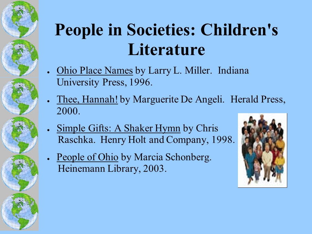 People in Societies: Children s Literature ● Ohio Place Names by Larry L.