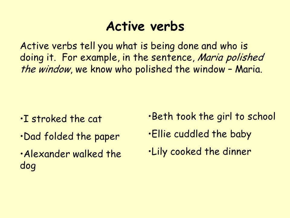 Adverbs Adverbs are words that describe verbs, for example, in the sentence: The shark swam quickly, the word quickly is the adverb.