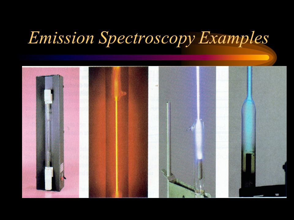Emission Spectroscopy Examples