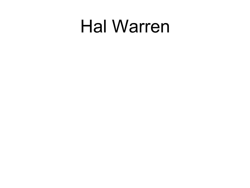 Hal Warren