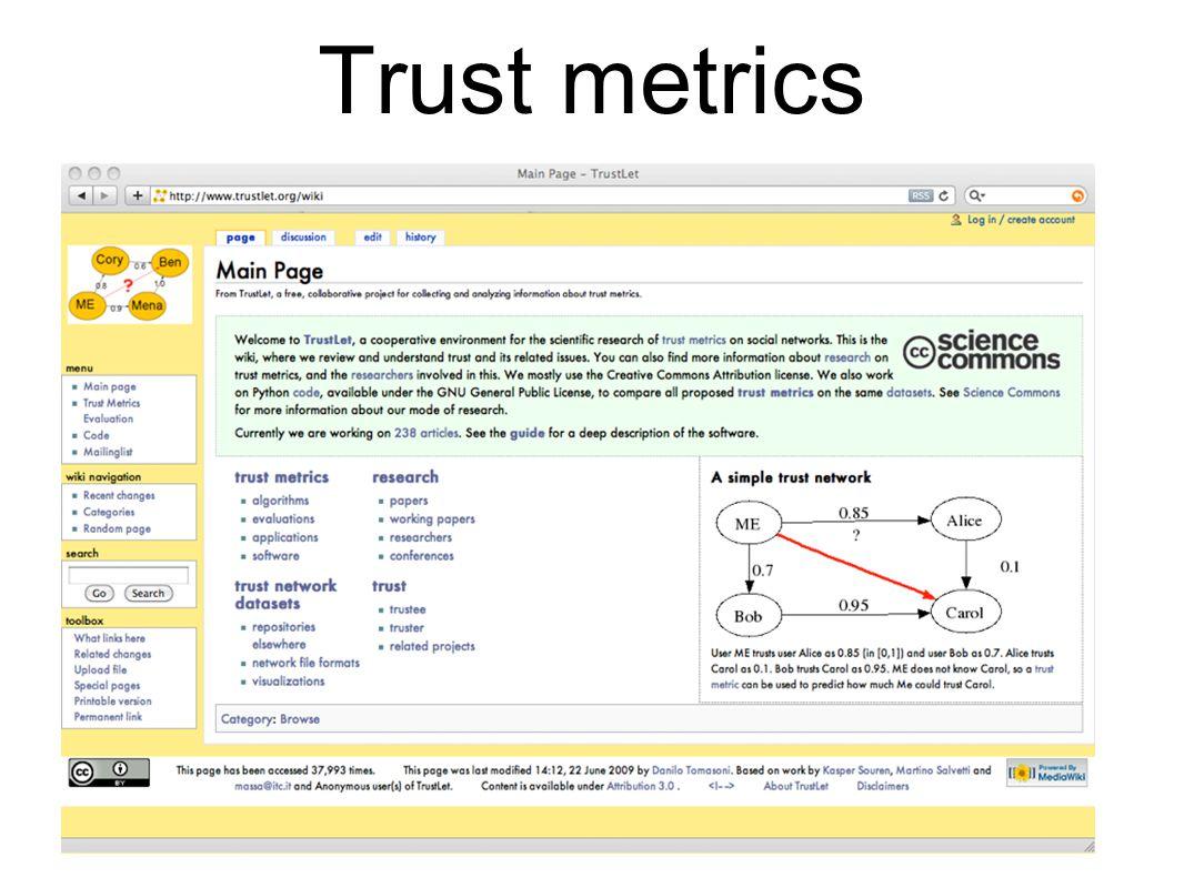Trust metrics