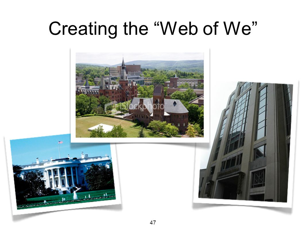 47 Creating the Web of We