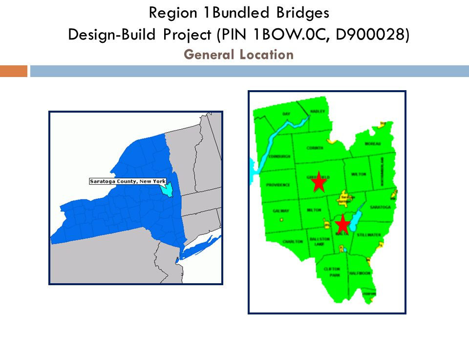 Region 1Bundled Bridges Design-Build Project (PIN 1BOW.0C, D900028) General Location